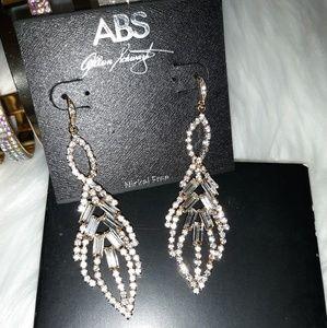 NWT ABS By Allen Schwartz Rhinestone Earrings